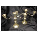 Pair of Sterling 3 Arm Candelabrums  Auction Estimate $100-$200 – Located Glassware