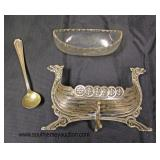 Set of 4 German Silver Viking Ship Salts with German Silver Spoons  Auction Estimate $50-$100 – Loc