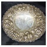 """AUCTION """"Stieff"""" Sterling Pedestal Plate approximately 10.03 ozt  Auction Estimate $100-$200 – Loca"""