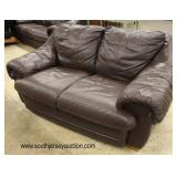 Like New 2 Piece Brown Leather Sofa and Loveseat  Auction Estimate $300-$600 – Located Inside