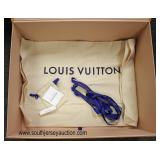 """Authentic """"Louis Vuitton"""" Brown Shipping Box, Orange Purse Box, Dust Bag, Small Draw String Bag wit"""