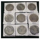 Selection of Silver Morgan Dollars  Auction Estimate $20-$50 each – Located Glassware
