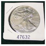 United States 2019 Silver American Eagle Dollar  Auction Estimate $20-$50 – Located Glassware
