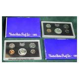 United States Proof Set (2) 1968  Auction Estimate $5-$10 each – Located Glassware