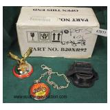 """""""Harley Davidson"""" Pocket Watch with Holder and Paperweight with Box  Auction Estimate $20-$50 – Loc"""