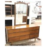 6 Piece Mid Century Modern Danish Walnut Bedroom Set with Full Size Bed  Auction Estimate $400-$800