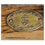"""ANTIQUE """"Roycroft Furniture"""" Mission Oak 3 Shelf Table, East Aurora, NY  Auction Estimate $200-$400"""