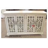 NEW Contemporary Decorator 4 Door Credenza  Auction Estimate $200-$400 – Located Inside