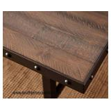 """NEW """"Hillsdale Furniture"""" Jennings Wood and Metal Rectangular Dining Room Table in the Dark Chestnu"""