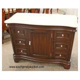 """NEW 48"""" Light Brown Marble Top 6 Drawer 1 Door Serpenitne Style Bathroom Vanity with Backsplash in"""
