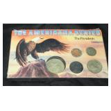 """""""The Americana Series"""" The Presidents Coins  Auction Estimate $5-$10 – Located Glassware"""