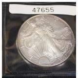 2007 Silver American Eagle Dollar  Auction Estimate $20-$50 – Located Glassware
