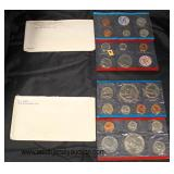 5 Sets of 2 per Envelope United States Uncirculated Mint Sets including: 1968, 1969, 1970, 1972 and