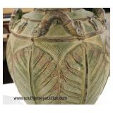 PAIR of Custom Terracotta Vase Base Glass Top Decorator Lamp Tables  Auction Estimate $100-$200 – L