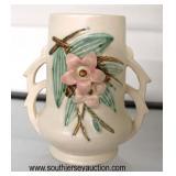"""McCoy"" Pottery Double Handle Vase  Auction Estimate $20-$50 – Located Glassware"