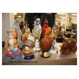 """Large Collection of Figural Decanters including """"Jim Beam"""" and some in Boxes  Auction Estimate $10-"""