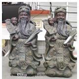 PAIR of Composition Asian Figures  Auction Estimate $20-$50 – Located Glassware