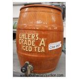 """Ehlers Grade A"" Advertisement Iced Tea Dispenser  Auction Estimate $100-$300 – Located Glassware"