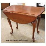 """SOLID Cherry """"Pennsylvania House Furniture"""" Queen Anne Drop Side Lamp Table  Auction Estimate $50-$"""