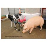 brand new items from pigs, cows, tubs, dining room sets, bedroom sets, living room sets. new to antique