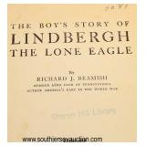 Lot 77: The Boys Story of Lindbergh the Lone Eagle by Richard J. Beamish first edition hard copy li