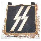 Lot 98: WWII SS small standarte banner double sided