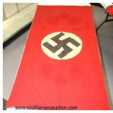 """Lot 102: WWII German 60"""" x 30"""" party flag double sided"""