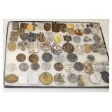 Lot 105: 66pc WWII German Day and Youth Badges or Tinni Badges (lot of 66)