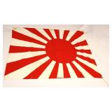 "Lot 111: Japanese Naval Flag Rising Sun approximately 28""x36"""