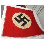 Lot 116: German Large Fringed Wall or Podium Banner Signed by Members of 325 Engineer Bn. 100th Div