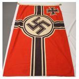 "Lot 121: German Reichskriegsflag Military Army Battle Flag Approximately 55""x33"""