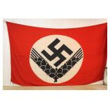 "Lot 125: German Female RAD Building Banner ""Woman's Reichsarbeitsdienst"" with Metal Hangers Maker F"