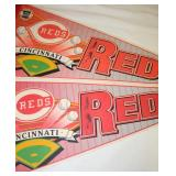 Lot 130: Pair of Cincinnati Reds Baseball Pendants Signed by Pete Rose without COA