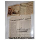 "Lot 132: Hitler Yacht Grille Brass Felt Bottom Lamp, Slip Shade, Newer Cord approximately 12"" high 6"