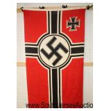"""Lot 137: WWII German State Flag with Iron Cross approximately 67""""x40"""""""