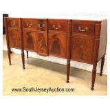 ANTIQUE Burl Mahogany Serpentine Buffet  Auction Estimate $700-$1200 – Located Inside