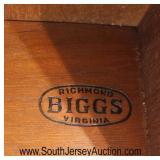 "SOLID Mahogany ""Biggs Furniture"" Sheraton Style Chest  Auction Estimate $300-$600 – Located Inside"