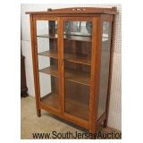 BEAUTIFUL Quartersawn Oak Mission Style 2 Door China Cabinet with Key  Auction Estimate $300-$600 –
