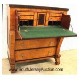 ANTIQUE Birdseye and Cherry Empire Butlers Desk in the Original Finish  Auction Estimate $200-$400