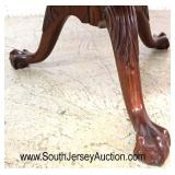 """SOLID Cherry """"Pennsylvania House Furniture"""" Ball and Claw Chippendale Style Drum Table  Auction Est"""