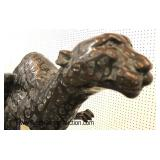 Life Size Bronze Running Cheetah and Leopard – Very Cool  Auction Estimate $1000-$2000 each – Locat