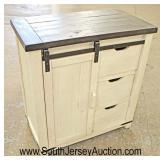 NEW Contemporary Rustic Style Sliding Door 2 Door Server Coffee Station  Auction Estimate $100-$300