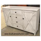 NEW Rustic Farm Style Contemporary 2 Door 4 Drawer Buffet  Auction Estimate $200-$400 – Located Ins