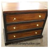 """NEW Contemporary """"Uttermost Furniture"""" 3 Drawer Mahogany Finish Bachelor Chest  Auction Estimate $2"""