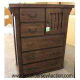 """NEW Contemporary Rustic Style """"Progressive Furniture"""" 5 Drawer 1 Door High Chest  Auction Estimate"""