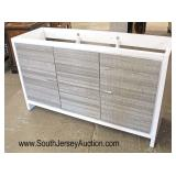 "NEW 60"" 2 Door 3 Drawer Modern Design Bathroom Base Cabinet  Auction Estimate $100-$300 – Located I"