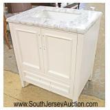 """NEW 30"""" Marble Top 2 Door 1 Drawer Bathroom Vanity with Hardware  Auction Estimate $200-$400 – Loca"""