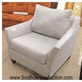 NEW Light Grey Upholstered Club Chair  Auction Estimate $100-$200 – Located Inside