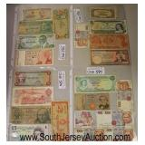 Selection of Foreign Paper Money  Auction Estimate $5-$20 – Located Glassware
