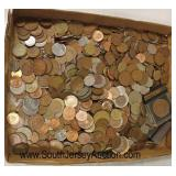 Large Box Lot of Foreign Coins  Auction Estimate $10-$30 – Located Glassware